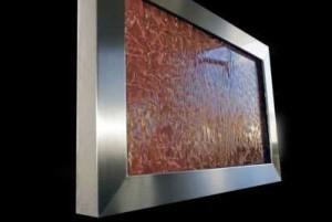 Wasserbild acrylic couture Cangiante Kupfer